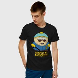Футболка хлопковая мужская South Park, Эрик Картман цвета черный — фото 2