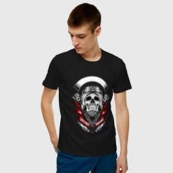 Футболка хлопковая мужская Skelet1 цвета черный — фото 2