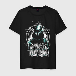 Мужская хлопковая футболка с принтом Bring Me The Horizon, цвет: черный, артикул: 10216898100001 — фото 1