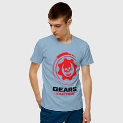 Футболка хлопковая мужская GEARS TACTICS цвета мягкое небо — фото 2