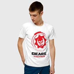 Футболка хлопковая мужская GEARS TACTICS цвета белый — фото 2