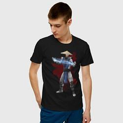 Футболка хлопковая мужская Raiden цвета черный — фото 2