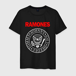 Футболка хлопковая мужская RAMONES цвета черный — фото 1
