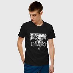 Футболка хлопковая мужская Thrasher Z цвета черный — фото 2