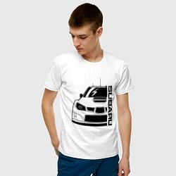 Футболка хлопковая мужская SUBARU Z цвета белый — фото 2