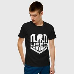 Футболка хлопковая мужская USEC Z цвета черный — фото 2