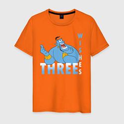 Футболка хлопковая мужская Джинн цвета оранжевый — фото 1