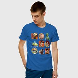 Футболка хлопковая мужская Toy Story цвета синий — фото 2