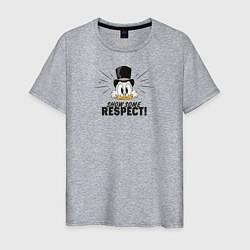 Футболка хлопковая мужская Show Some Respect! цвета меланж — фото 1