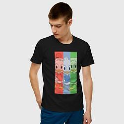 Футболка хлопковая мужская Вилли, Билли, Дилли цвета черный — фото 2