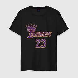 Мужская хлопковая футболка с принтом LeBron James, цвет: черный, артикул: 10274113300001 — фото 1