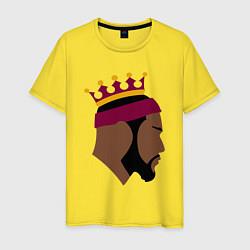 Мужская хлопковая футболка с принтом LeBron, цвет: желтый, артикул: 10274331500001 — фото 1