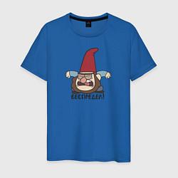 Мужская хлопковая футболка с принтом Беспредел!, цвет: синий, артикул: 10275017100001 — фото 1