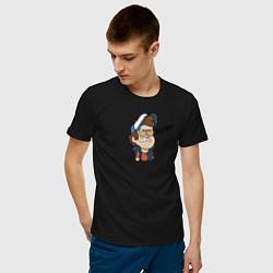 Мужская хлопковая футболка с принтом Бесит!, цвет: черный, артикул: 10275089700001 — фото 2