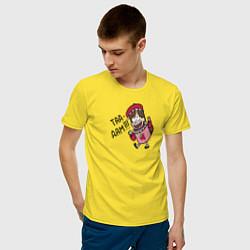 Мужская хлопковая футболка с принтом ТАА-ДАМ!!!, цвет: желтый, артикул: 10275102900001 — фото 2