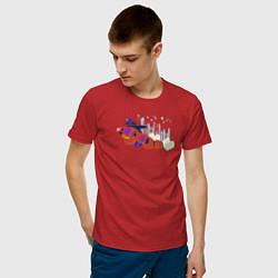 Футболка хлопковая мужская Baymax and Hiro цвета красный — фото 2