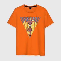 Футболка хлопковая мужская Бэймакс Город Героев 6 цвета оранжевый — фото 1