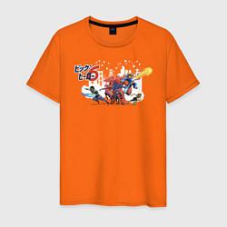 Футболка хлопковая мужская Big Hero 6 цвета оранжевый — фото 1