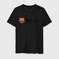 Футболка хлопковая мужская Barcelona FC цвета черный — фото 1