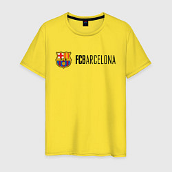 Футболка хлопковая мужская Barcelona FC цвета желтый — фото 1
