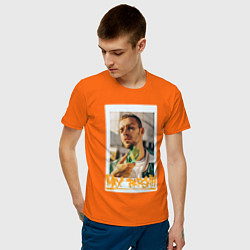 Футболка хлопковая мужская Max Barskih цвета оранжевый — фото 2