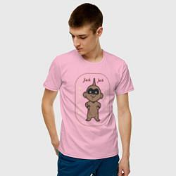 Футболка хлопковая мужская The Incredibles цвета светло-розовый — фото 2