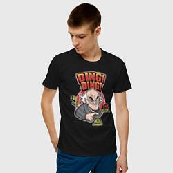 Футболка хлопковая мужская Гектор Саламанка цвета черный — фото 2