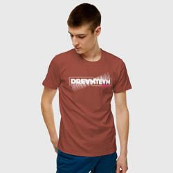 Футболка хлопковая мужская Logo DreamTeam House цвета кирпичный — фото 2