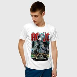 Мужская хлопковая футболка с принтом ACDC, Black ice, Рокеры, Паровоз, Метал, цвет: белый, артикул: 10278601700001 — фото 2