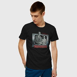 Футболка хлопковая мужская ВандаВижен цвета черный — фото 2