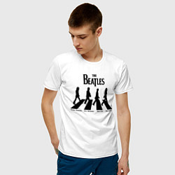 Футболка хлопковая мужская The Beatles цвета белый — фото 2