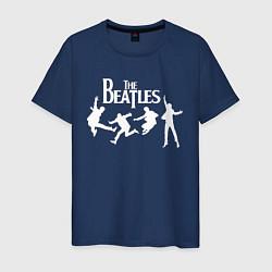 Футболка хлопковая мужская The Beatles цвета тёмно-синий — фото 1