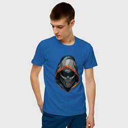 Футболка хлопковая мужская Taskmaster цвета синий — фото 2