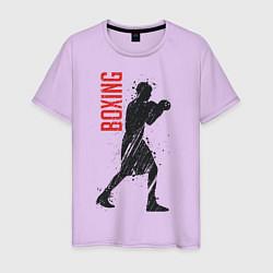 Футболка хлопковая мужская Боксер цвета лаванда — фото 1