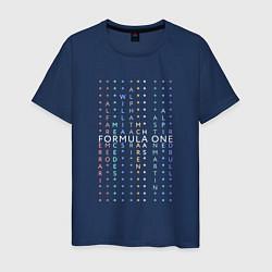 Футболка хлопковая мужская Команды Формулы 1 цвета тёмно-синий — фото 1