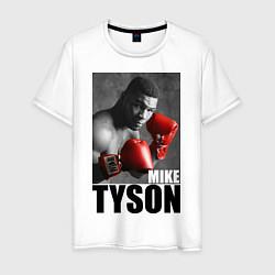 Футболка хлопковая мужская Mike Tyson цвета белый — фото 1
