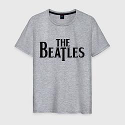 Футболка хлопковая мужская The Beatles цвета меланж — фото 1