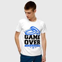 Футболка хлопковая мужская Game over Свадьба цвета белый — фото 2