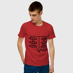 Футболка хлопковая мужская Евангелион цвета красный — фото 2