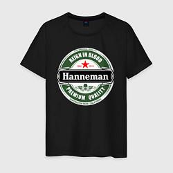 Футболка хлопковая мужская Hanneman цвета черный — фото 1