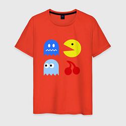 Футболка хлопковая мужская Pac-Man Pack цвета рябиновый — фото 1