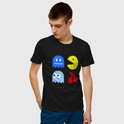 Футболка хлопковая мужская Pac-Man Pack цвета черный — фото 2