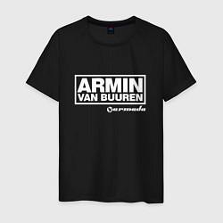 Мужская хлопковая футболка с принтом Armin van Buuren, цвет: черный, артикул: 10061384300001 — фото 1