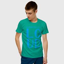 Футболка хлопковая мужская Thinking Out: Loud цвета зеленый — фото 2