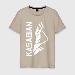Футболка хлопковая мужская Kasabian цвета миндальный — фото 1