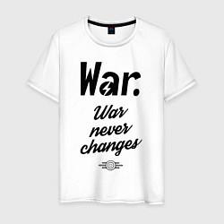 Футболка хлопковая мужская War never changes цвета белый — фото 1