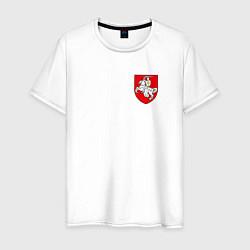 Футболка хлопковая мужская Погоня: герб цвета белый — фото 1