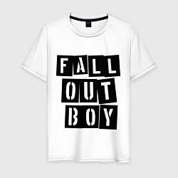 Футболка хлопковая мужская Fall Out Boy: Words цвета белый — фото 1