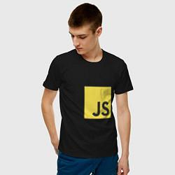 Футболка хлопковая мужская JS return true; (black) цвета черный — фото 2