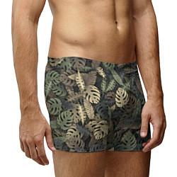 Трусы-боксеры мужские Тропический камуфляж цвета 3D — фото 2